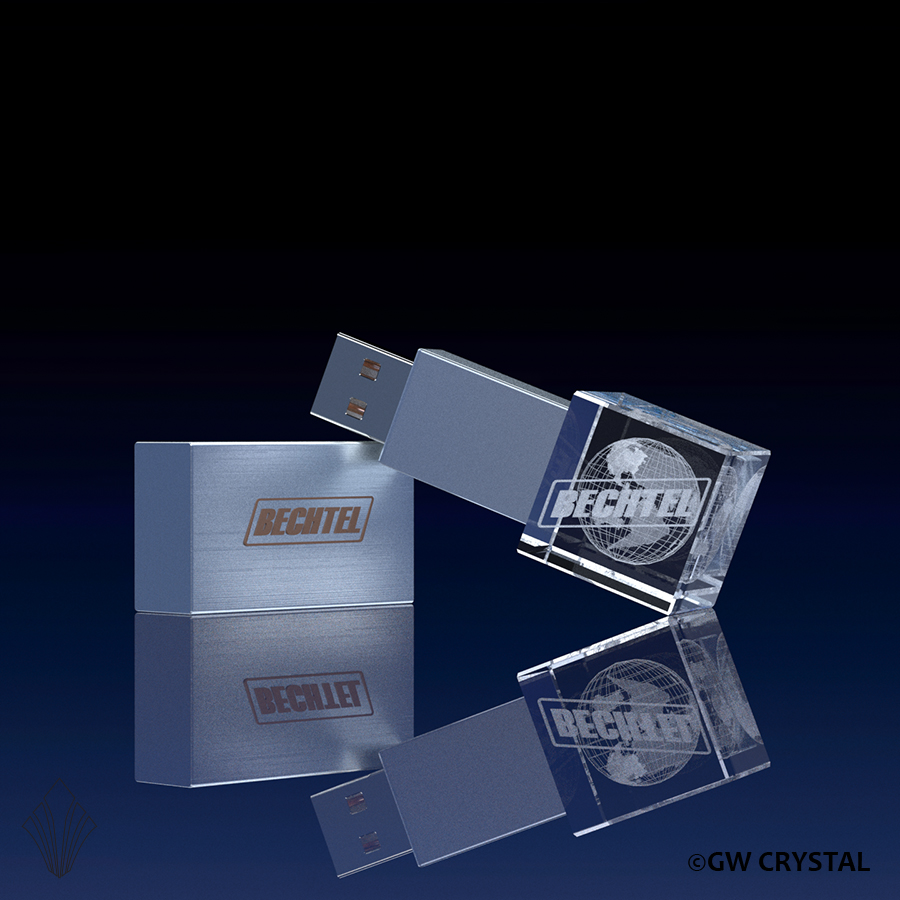 Cube Crystal Flash Drives