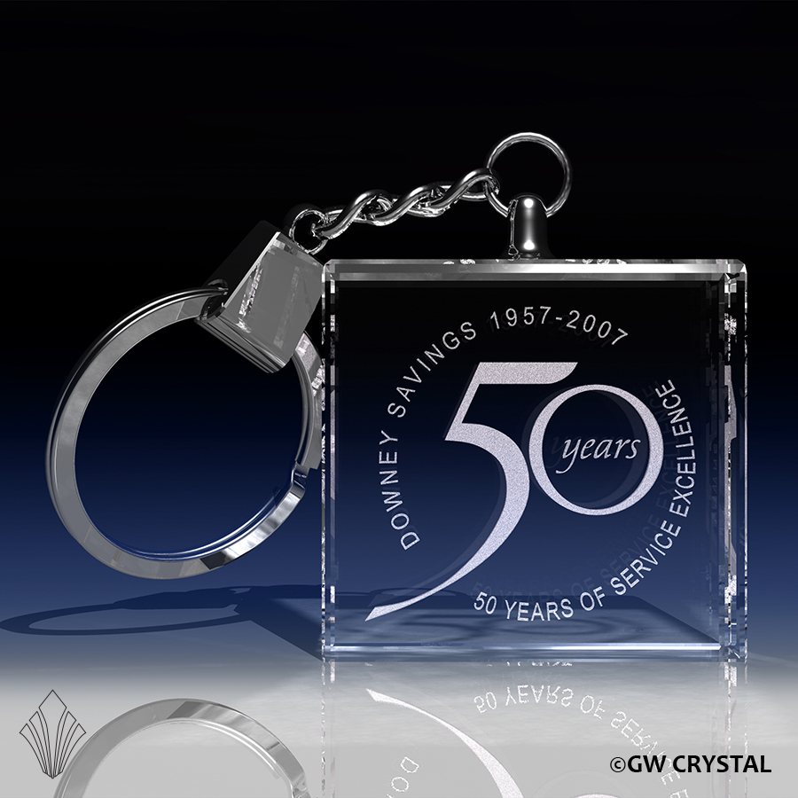 Thick Square Crystal Keychains