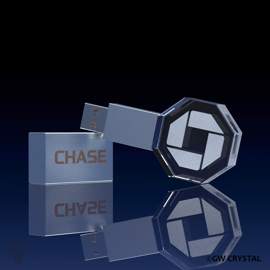 Octagon Crystal Flash Drives