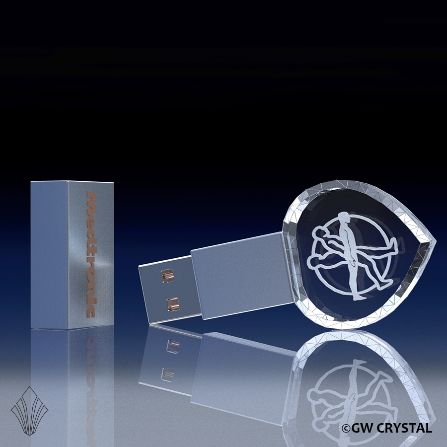 Heart Crystal Flash Drives