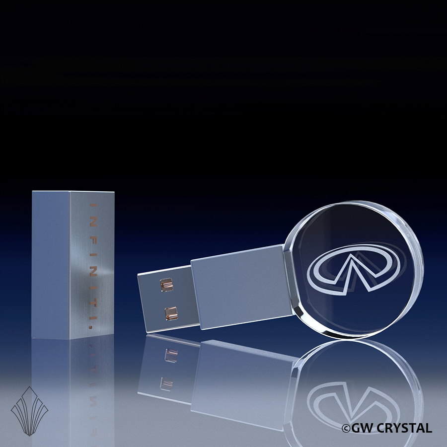 Circular Crystal Flash Drives